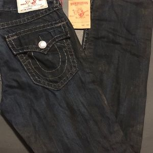 NWT Men's True Religion Skinny Flap Jeans 33
